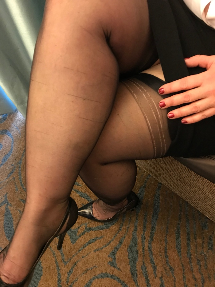 My Secretary In Nylons Waits To Take Dictation