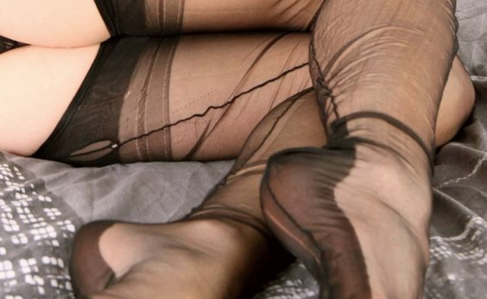 Fully Fashioned Nylons, With Wrinkles