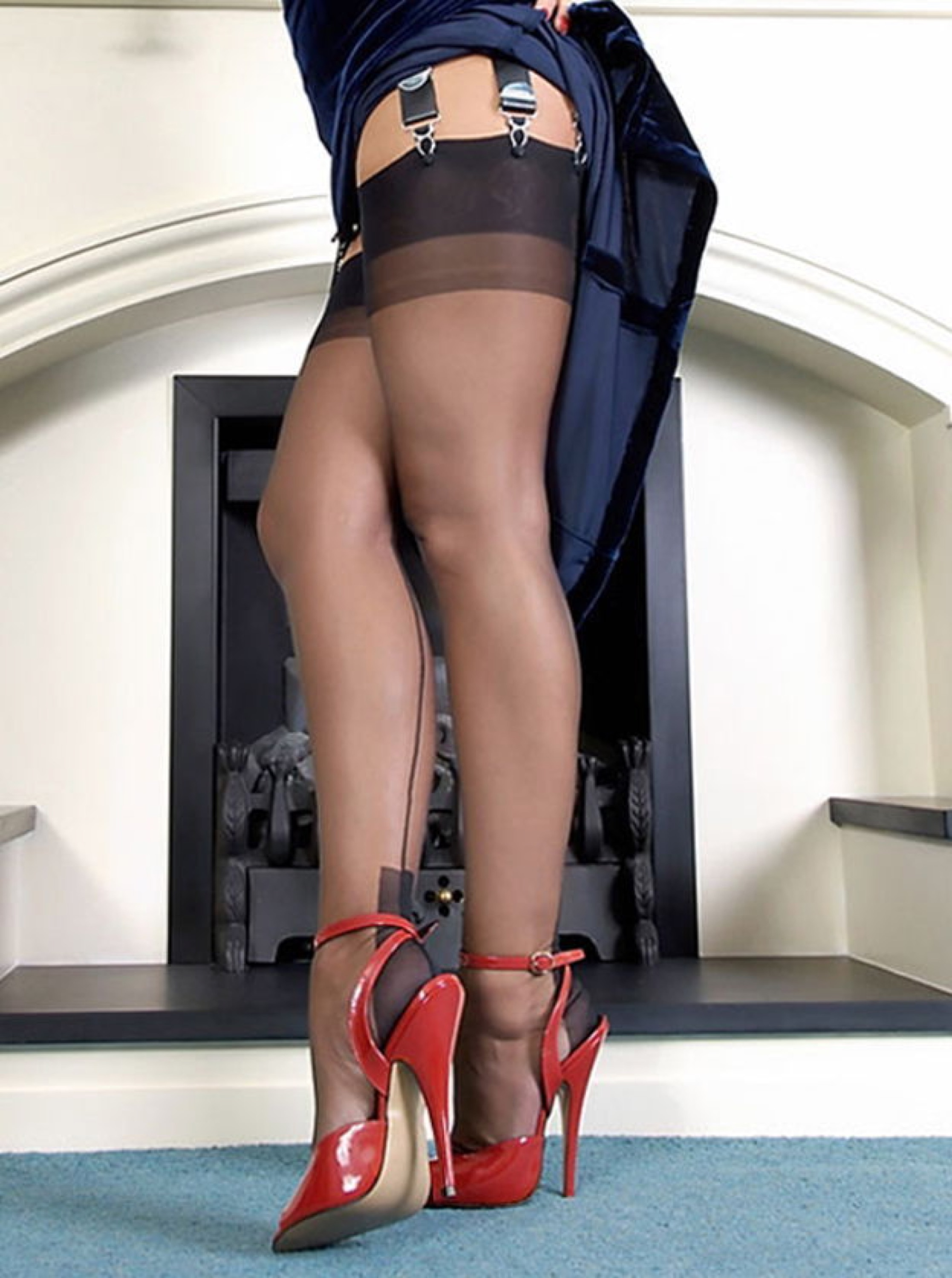 His pantyhose and heels